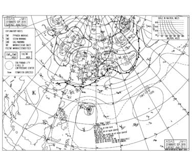 南の海上で次々と台風が発生しそうな気圧配置【2018.7.23】
