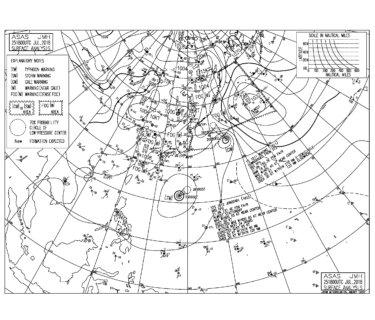 台風12号は北緯20度線を越えて北上中、日本付近で西進予報【2018.7.26】