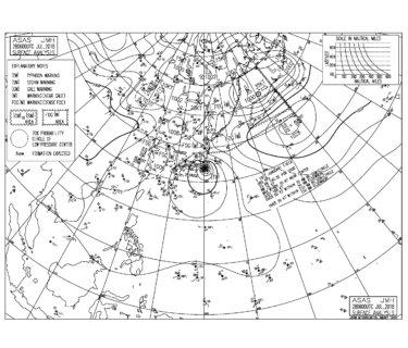 千葉県の一部が台風12号の暴風域に入る【2018.7.28 15:00更新】