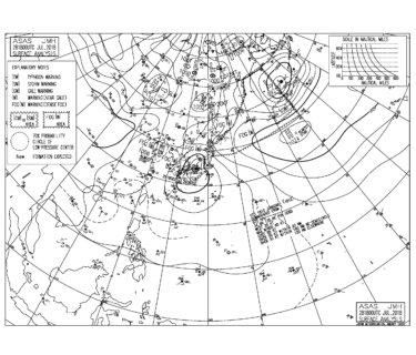 台風12号は伊勢市付近に上陸、前代未聞のコースを辿る【2018.7.29】