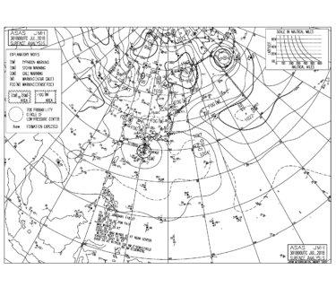 台風12号は異様な動き、千葉の波はサイズ十分【2018.7.31】