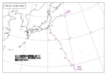 2018年台風13号(T1813)~強いオフショアでうねり抑えられすぐにサイズダウン