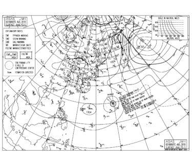 8/4 3:00 ASAS 気圧配置と波情報〜東うねりはサイズダウン、台風13号の動きに注目