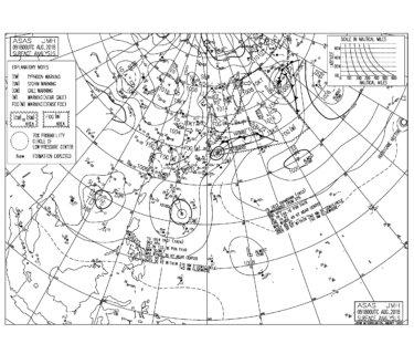 8/10 3:00 ASAS 気圧配置と波情報〜台風13号のうねりと南西の風で一宮周辺はいい波