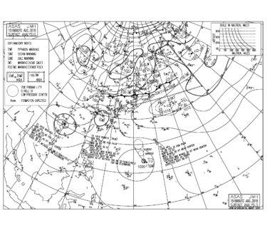 8/16 3:00 ASAS 気圧配置と波情報〜台風18号が昨日発生、台風19号も先程発生!来週前半にかけて動向注視