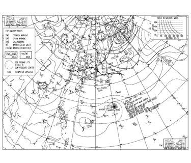 台風21号は猛烈な台風になりそう、うねりは土曜の午後から反応か【2018.8.30】