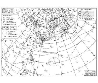 9/20 気圧配置と波情報~太平洋側はサイズダウンして物足りないコンディション、台風24号候補のうねりは3連休は期待できなそう