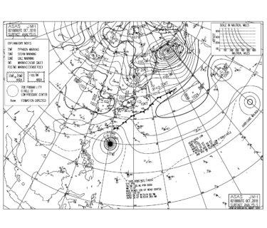 10/3 気圧配置と波情報~台風25号のうねりは今日から西日本で反応してきそう、3連休は土曜日の朝一からスタンバイしたい