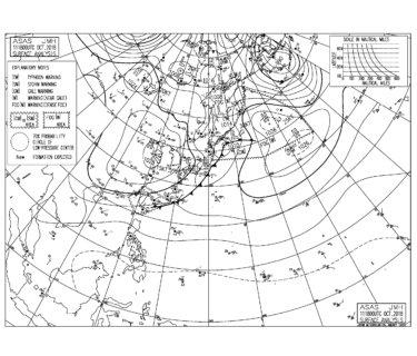 10/12 気圧配置と波情報~千葉はうねりの反応が弱く物足りないコンディション、湘南は今朝も全域でほぼフラット