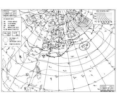 10/15 気圧配置と波情報~千葉は東うねりにコンスタントに反応して遊べる波、今週も北東風の日が多くなる