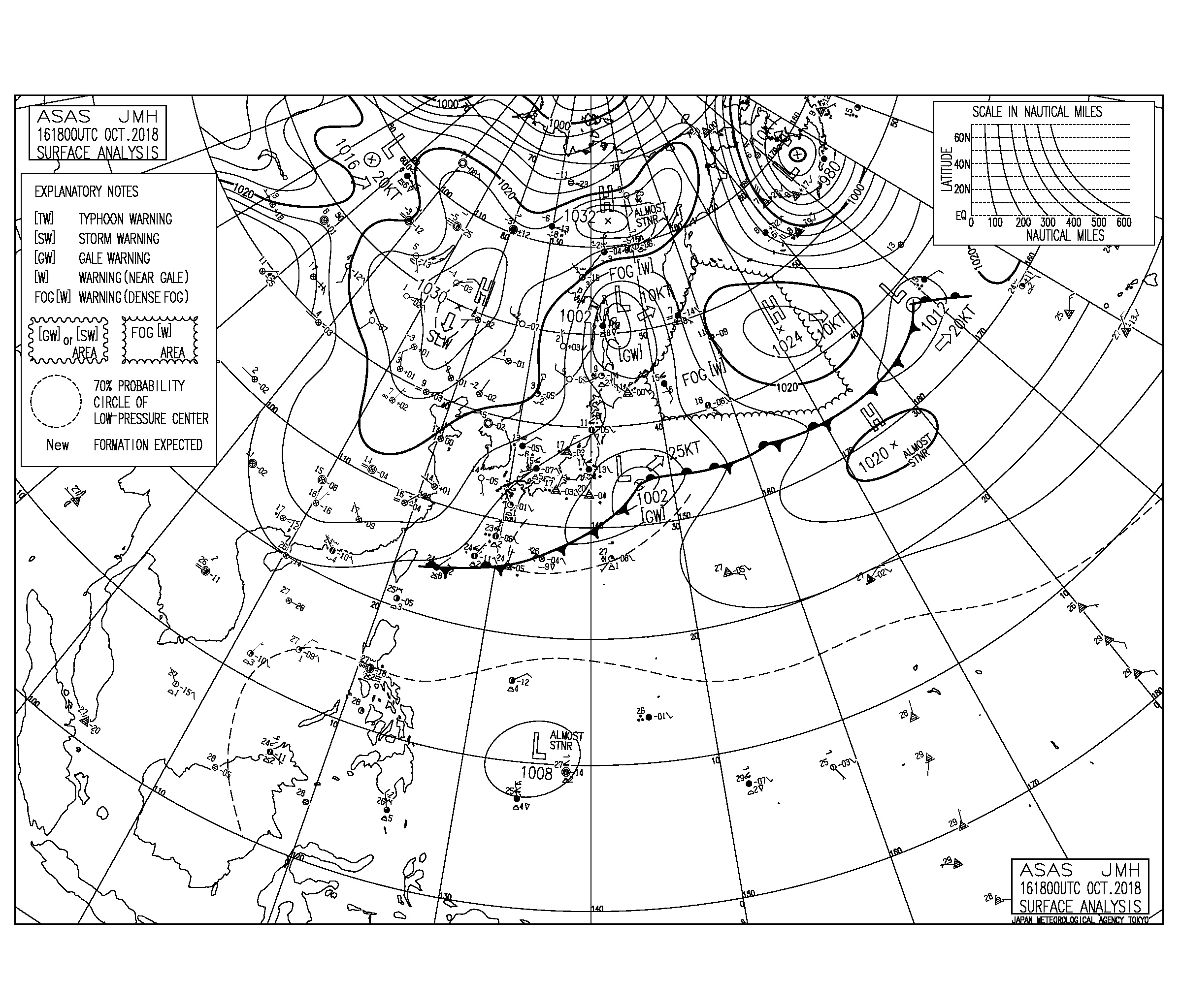 10/17 気圧配置と波情報~東うねりの反応が続くが北東の風がネックな状況も継続、湘南もしばらく波は期待できなそう