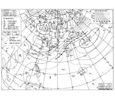 10/21 気圧配置と波情報~北風をかわすポイントで今日も楽しめる波、今後の熱帯低気圧の動きに少し期待!?