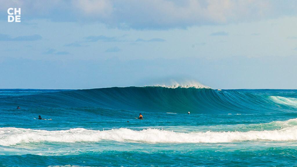 無風に近いいい波