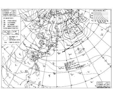 11/1 気圧配置と波情報~湘南は南西うねりが残り今朝も楽しめる波、週末にかけては北東うねりが期待できそう!
