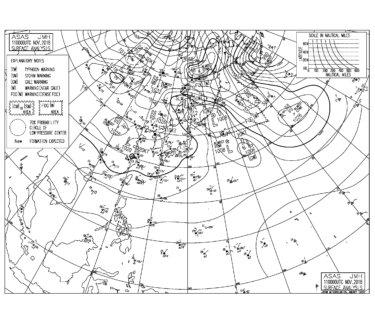 11/11 地上天気図と波情報~朝一はオフショアベースで多くのポイントでいい波が入る、午後は北東から東北東の風を軽減するポイントへ