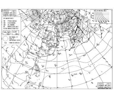 2018/11/30 低気圧からの南東うねりが遅れて反応し湘南でも腰腹サイズ、週末は期待薄な感じか