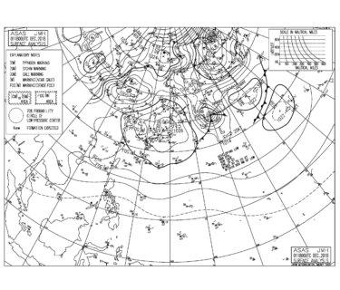 高気圧にすっぽり覆われるものの西から天気は下り坂、千葉エリアは昨日よりサイズダウン(181202)