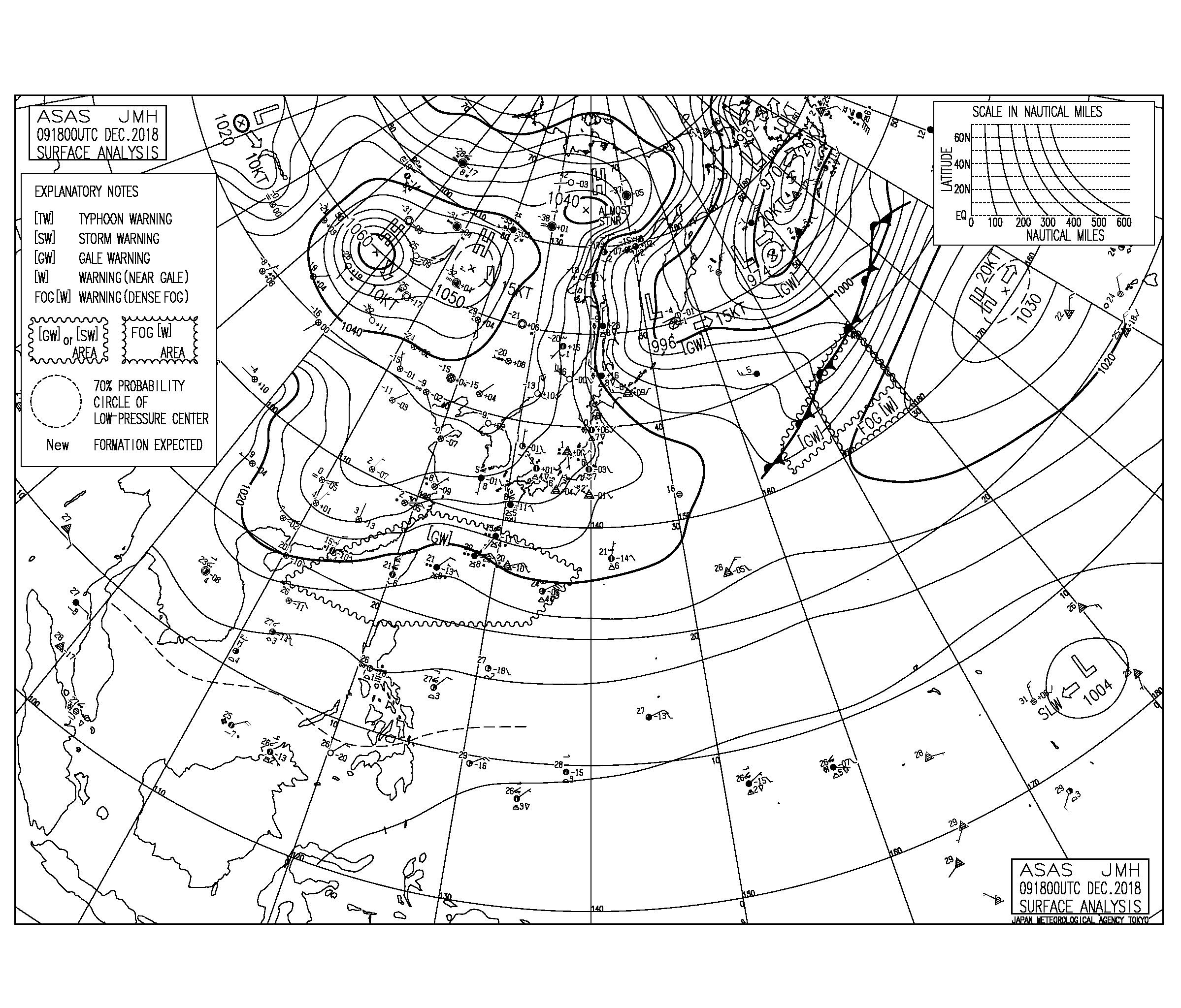 北の風で冷え込み厳しく寒い朝、今週は水曜日の低気圧通過後にサイズあがりそう(181210)
