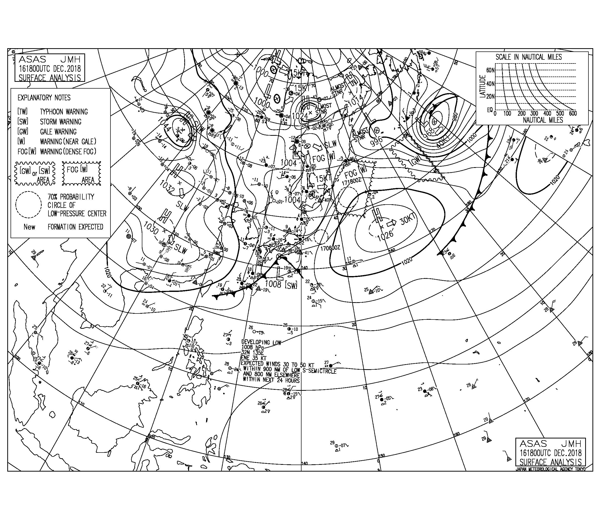 南岸低気圧が通過して昼過ぎから湘南もサイズアップしてきそう,今週は比較的暖かい1週間に(181217)