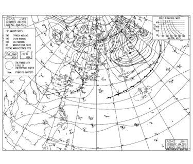低気圧が北日本を通過して南西の風が強まりそう,今週末は強い寒気が南下(2019.1.23)