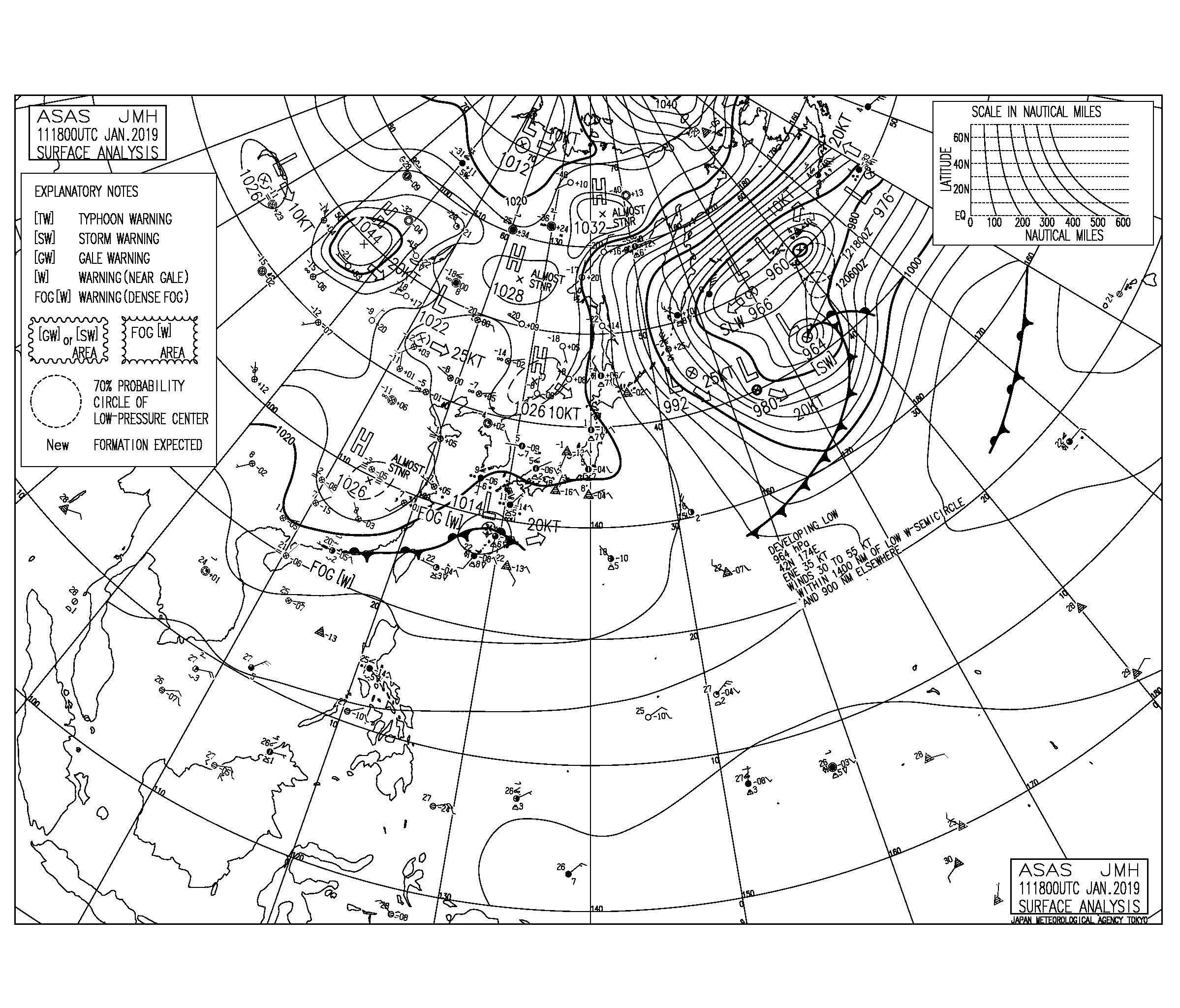 首都圏で久しぶりの雨,連休後半の北東うねりの反応を要チェック(2019.1.12)