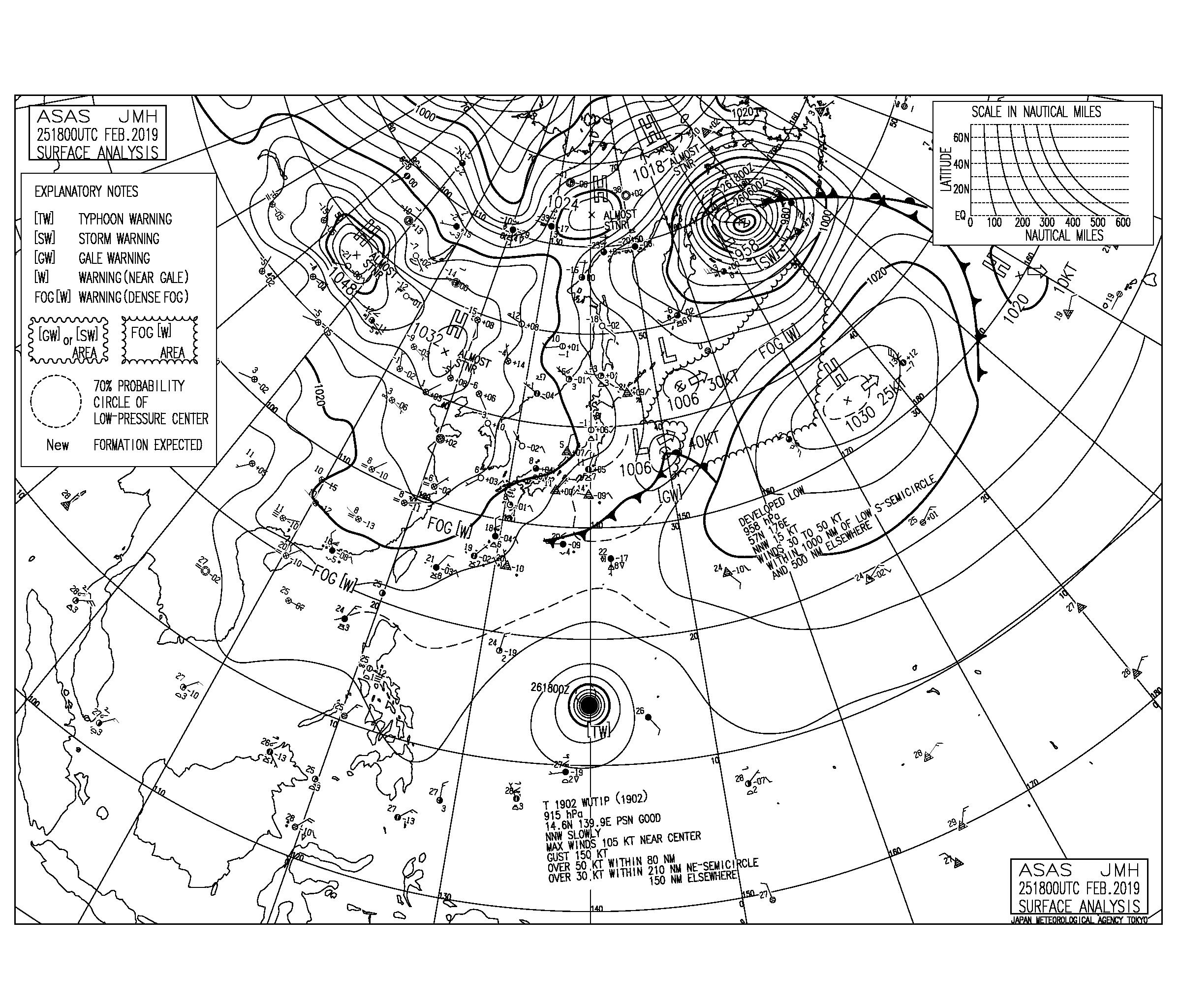 高気圧の吹き出しによる北東の風をかわすポイントへ【2019.2.26】