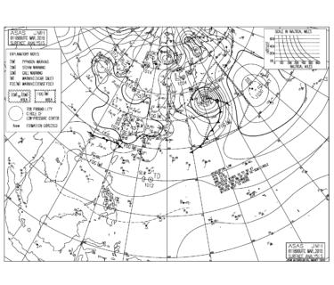 【2019.3.2】毎日の天気図と波情報