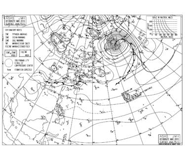 【2019.3.3】毎日の天気図と波情報