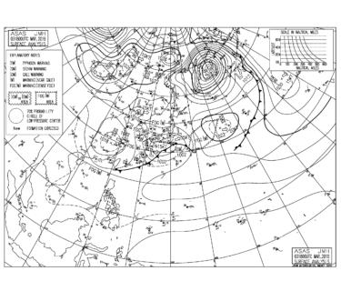 【2019.3.4】毎日の天気図と波情報