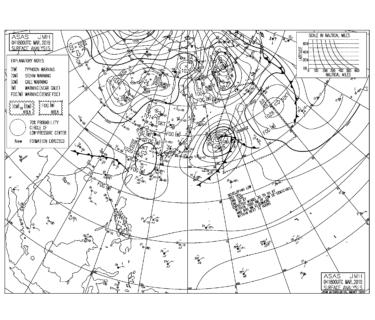 【2019.3.5】毎日の天気図と波情報