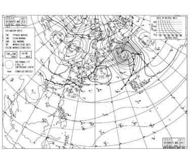 【2019.3.6】毎日の天気図と波情報