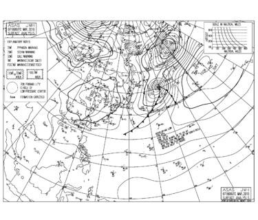 【2019.3.8】毎日の天気図と波情報