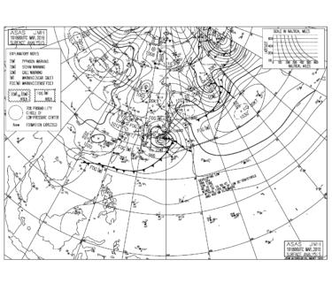 【2019.3.11】毎日の天気図と波情報