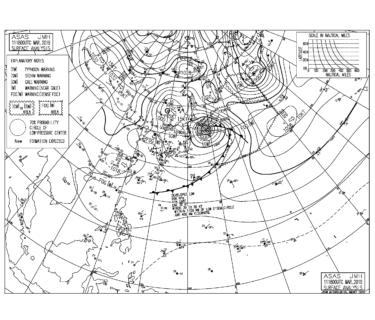 【2019.3.12】毎日の天気図と波情報