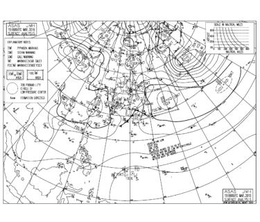 【2019.3.16】毎日の天気図と波情報