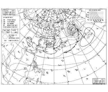 【2019.3.18】毎日の天気図と波情報