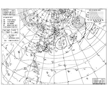 【2019.3.19】毎日の天気図と波情報