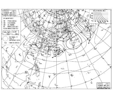 【2019.3.20】毎日の天気図と波情報