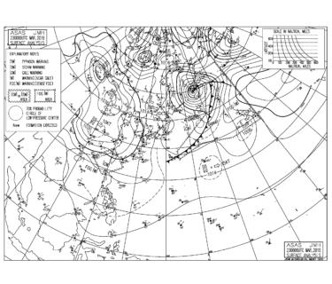 【2019.3.23】毎日の天気図と波情報