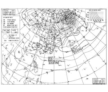 【2019.3.26】毎日の天気図と波情報