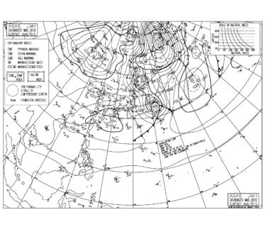 【2019.3.27】毎日の天気図と波情報