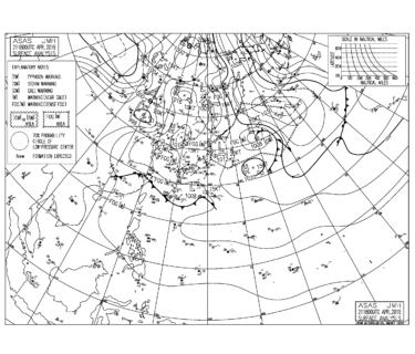 周辺に等圧線はなく風の弱い朝、午前中のミドルタイド狙い【2019.4.22】