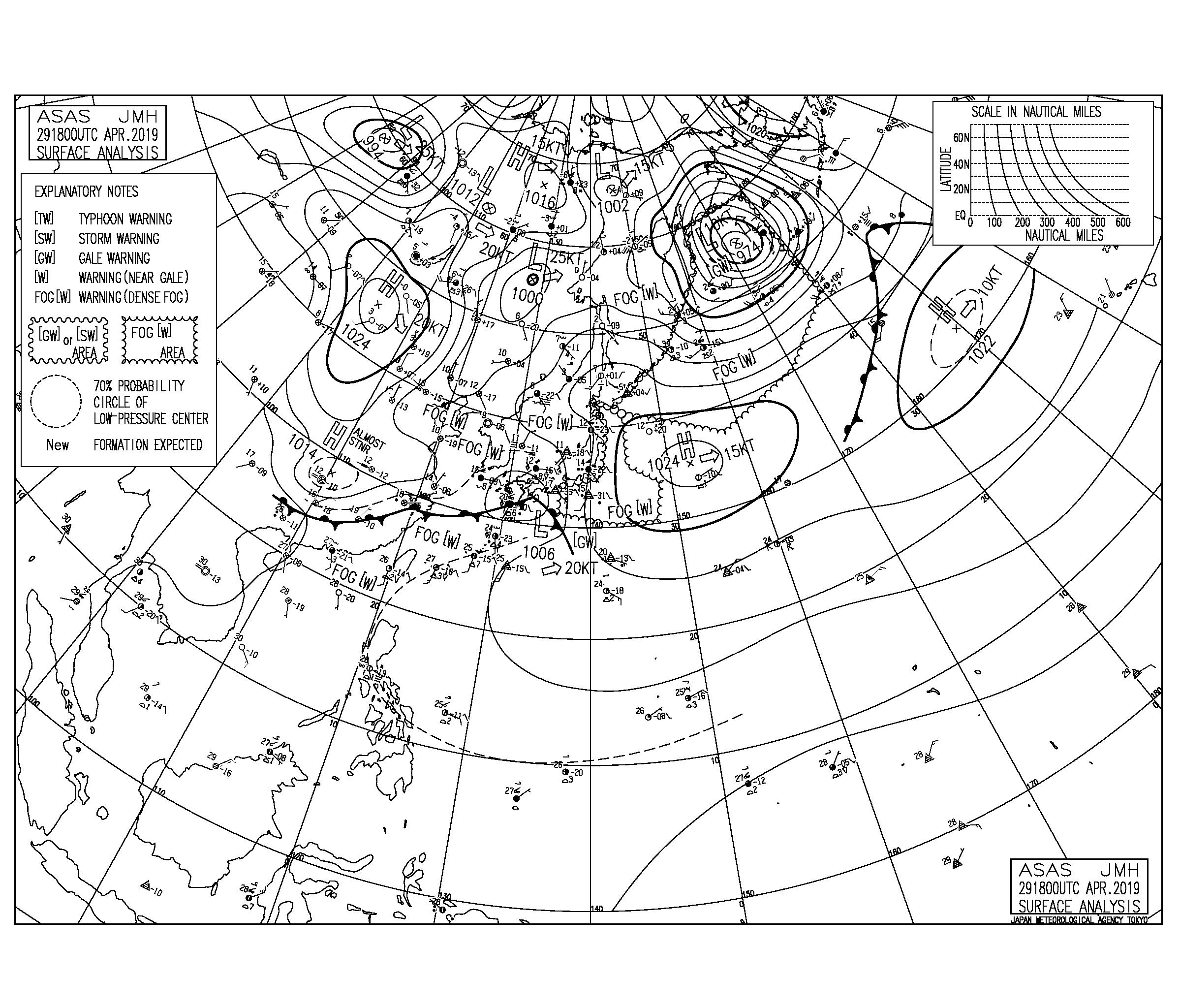 【2019.4.30】平成の最終日は南岸を低気圧が通過、強い南東の風でジャンクアップ