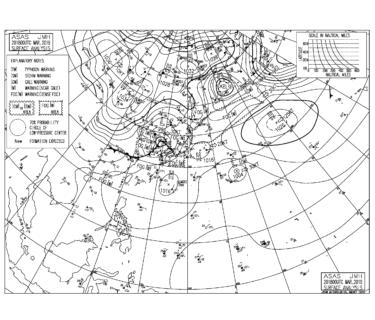 【2019.3.21】毎日の天気図と波情報