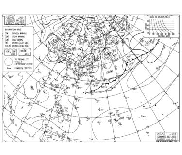 北から高気圧が張り出して強い北東の風が終日続く【2019.5.12】