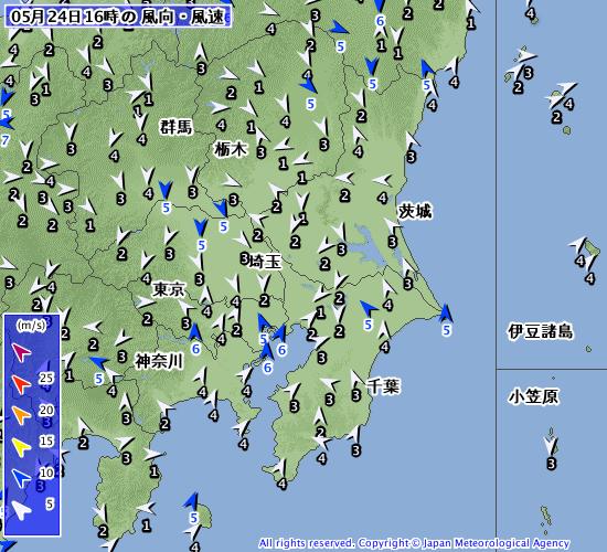 【2019.5.24-25】明日の千葉エリアは風の弱い朝一がねらい目!