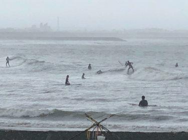 【2019.6.24】強い北東の風をかわすポイントで後半の方が波は良さそう