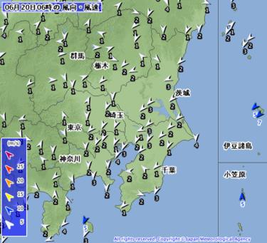 【2019.6.20】今日のサーフィン波情報と潮位(満潮/干潮)