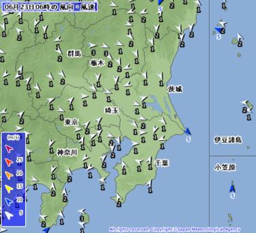 【2019.6.23】今日のサーフィン波情報と潮位(満潮/干潮)