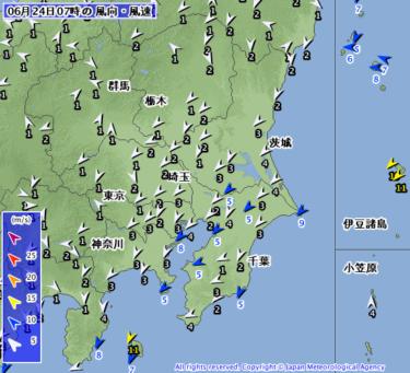 【2019.6.24】今日のサーフィン波情報と潮位(満潮/干潮)